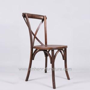 Elm Wood Cross Back Chair