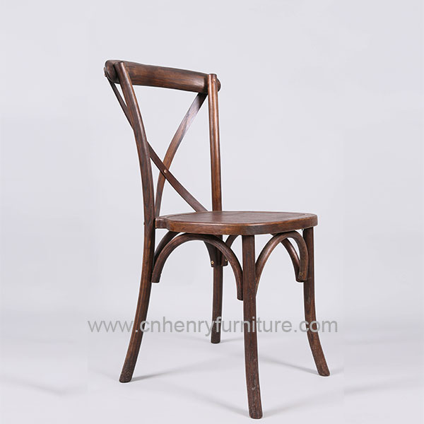 Factory Supply Wood Dining Chair - Elm Wood Cross Back Chair – HENRY FURNITURE