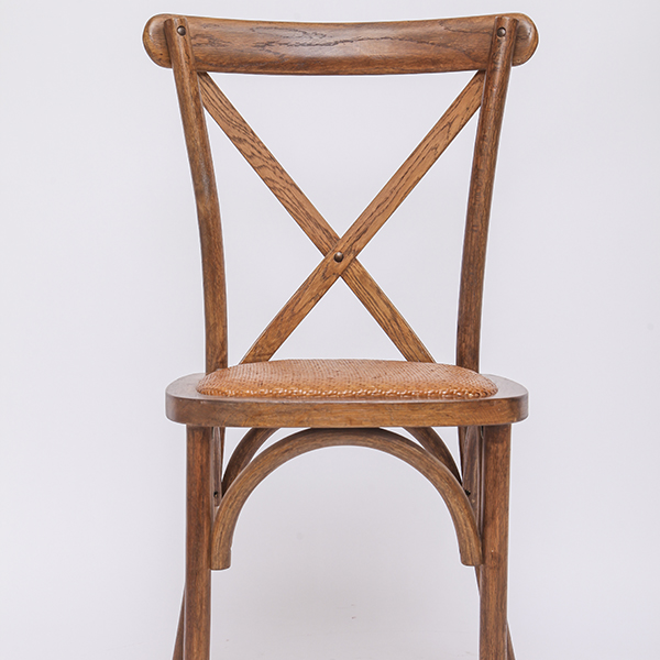 Wooden cross back chairs YDL7 Rattan Light brown Featured Image