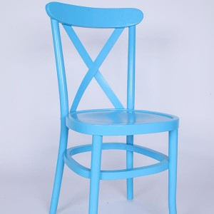 Wooden tuscan chairs blue