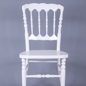 Wooden napoleon chairs white