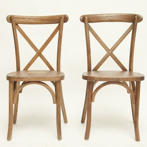 cross back chair(large seat) Raw wood color