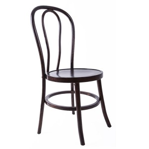 Wooden bentwood thonet chair brown