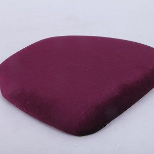velvet Hard cushions Wine red
