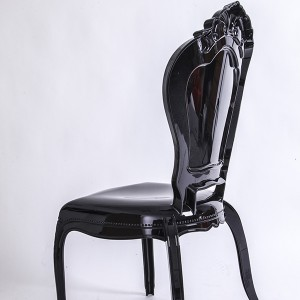 PC resin bella chairs without arms black