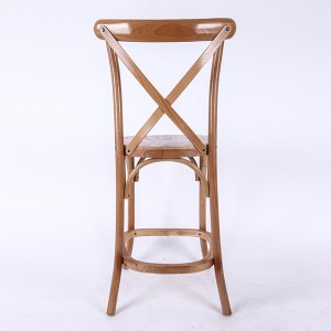 Wooden cross back bar chairs burlywood