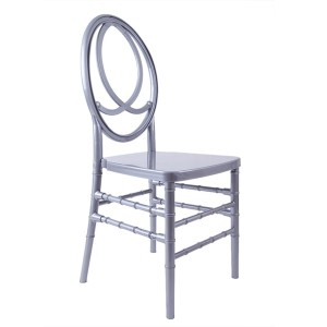 Resin phoenix chair silvery