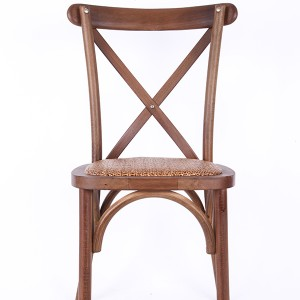 Beech wood cross back chair Fruit wood