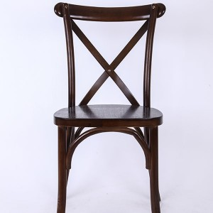 Wooden cross back chairs 2