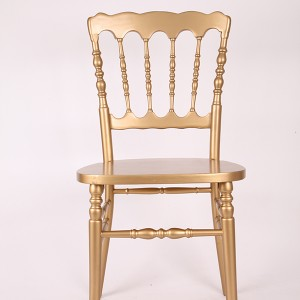 Wooden napoleon chairs gold
