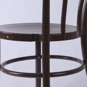 PP Resin thonet chairs brown