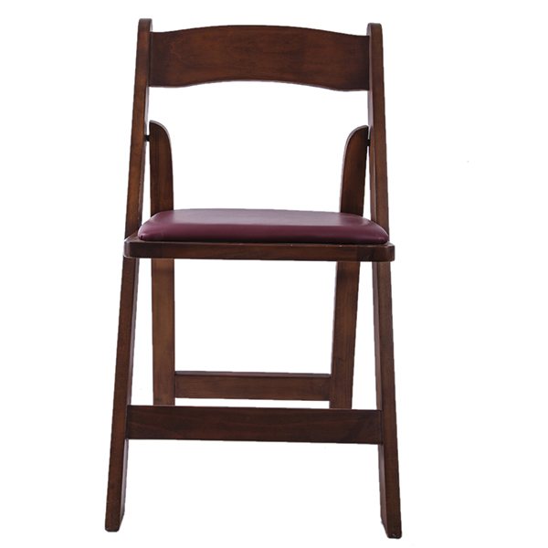 Wooden padded folding chairs brown Featured Image