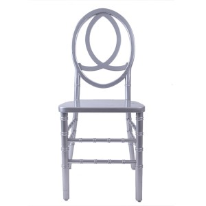 Wooden Phoenix chair silvery