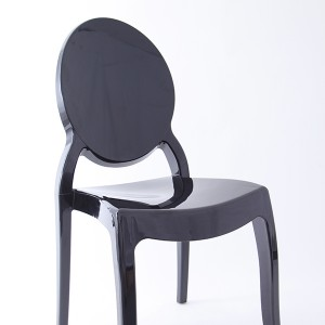Resin sofia chairs 36-9007L black