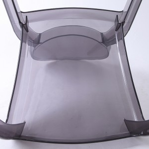 Resin sofia chairs 36-9007L Transparent ash