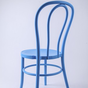 PP Resin thonet chairs blue