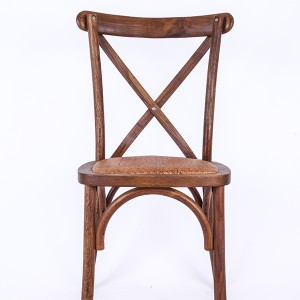 Wooden cross back chairs nufurn Rattan