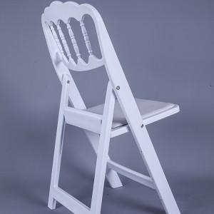 PP white napoleon chair with pvc seat