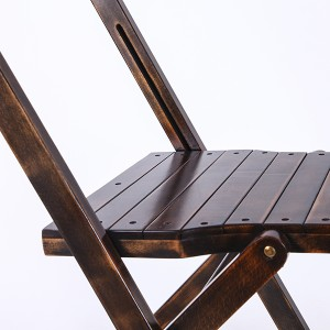 Wooden folding chairs black