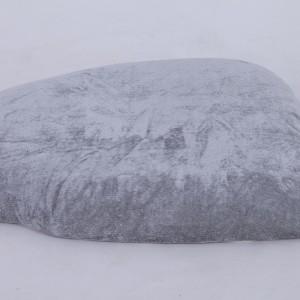 velvet Hard cushions gray