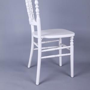 Wooden napoleon chairs white
