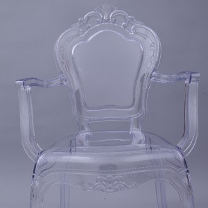 Resin bella Princess chair transparent
