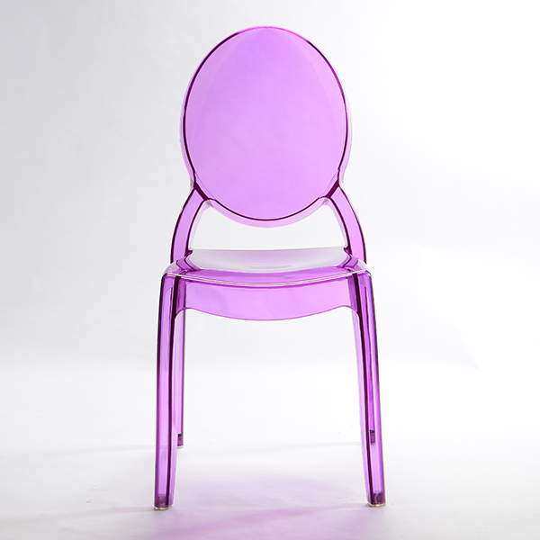 Resin sofia chairs 36-9007L Transparent purple Featured Image
