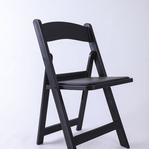 Resin folding chairs black